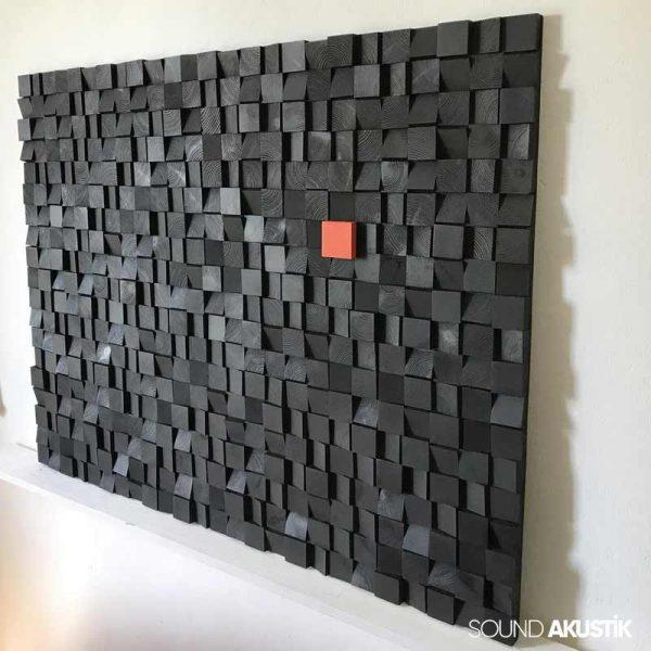 Black Asimetrik Akustik Difüzör